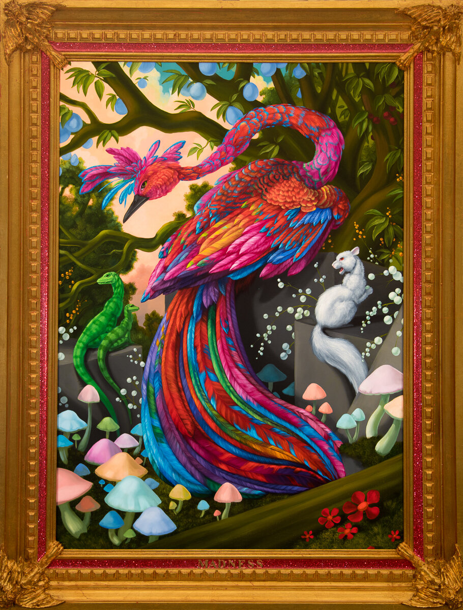 """ALLEGORY OF FUTURE SEASONS: MADNESS (RED), Oil on Linen Canvas, 35 x 25"""""""
