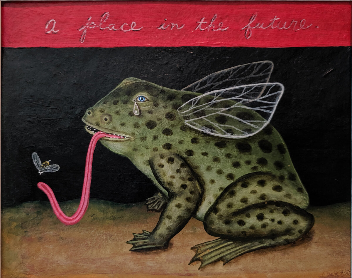 """A PLACE IN THE FUTURE, Acrylic on Paper, 7 1/2 x 9 1/2"""""""