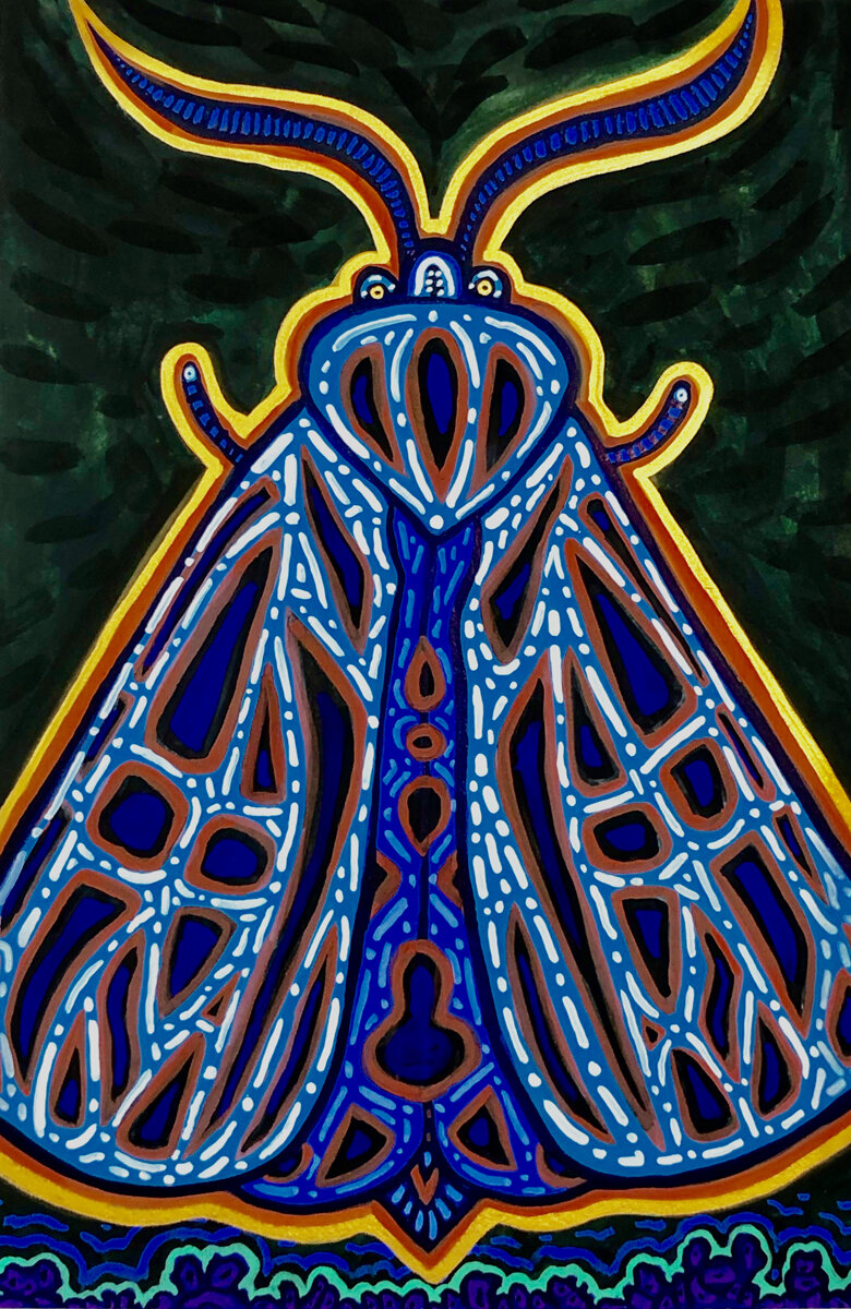 """EVERYDAY KING, Gouache on Paper, 12 3/4 x 9"""""""
