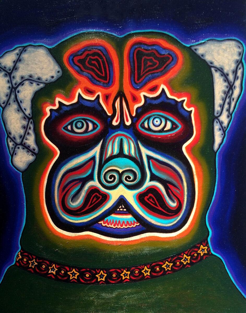 "WAR DOG, Oil on Canvas, 20 x 16"""