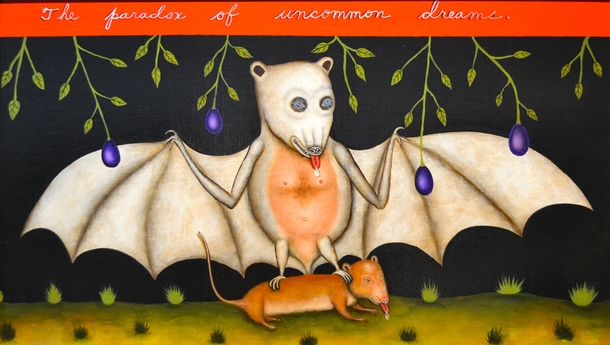 "UNCOMMON DREAMS, Acrylic on Panel, 26 x 36"""