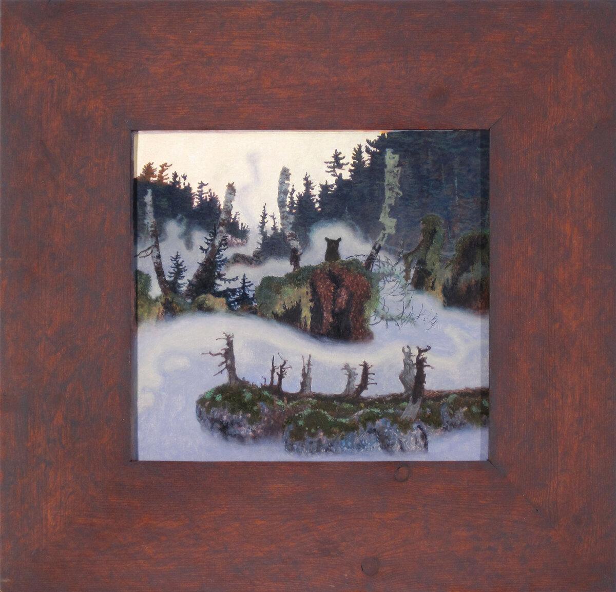 """AKANDOWININI (911), Oil on Museum Board, 9 x 9 1/2"""""""