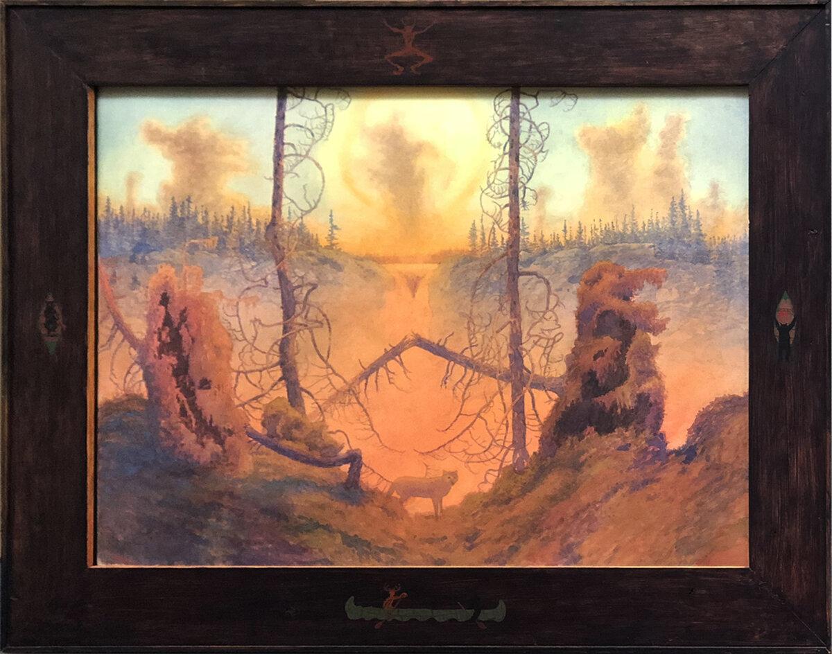 "NIN MATCHIDEE (989), Watercolor, 21 1/2 x 29 3/4"" framed 29 1/2 x 37 1/2"""