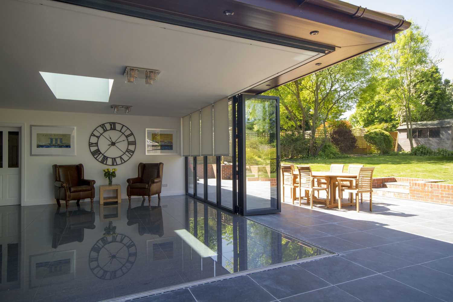 Concealed Blinds in Surrey Kitchen -