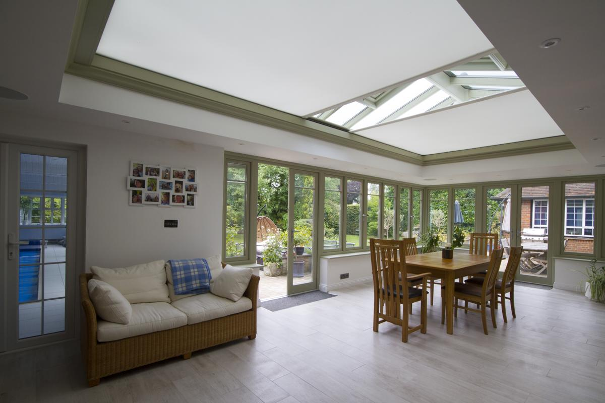 Concealed Blinds in David Salisbury Garden Room -