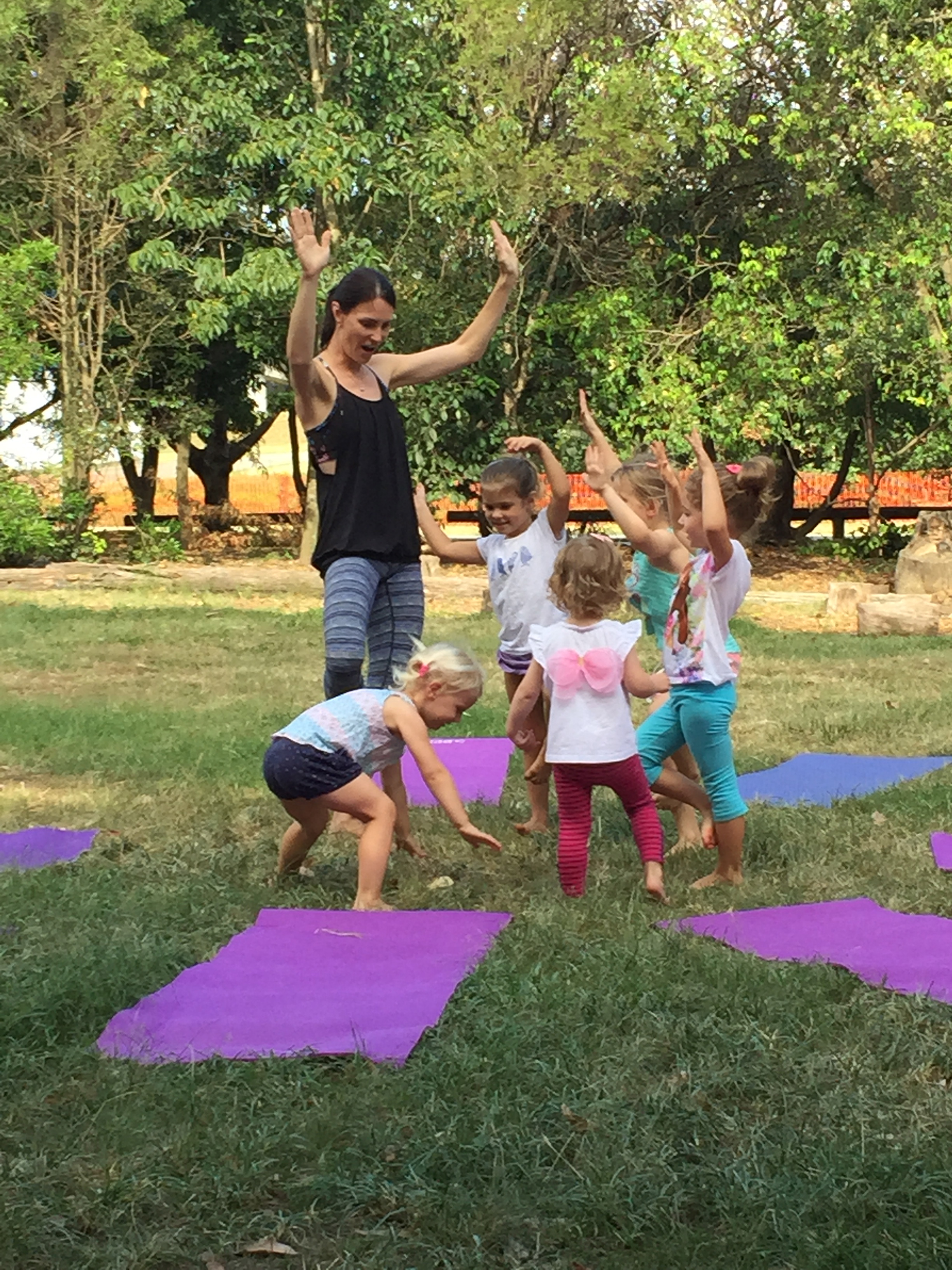 Trying group tree pose
