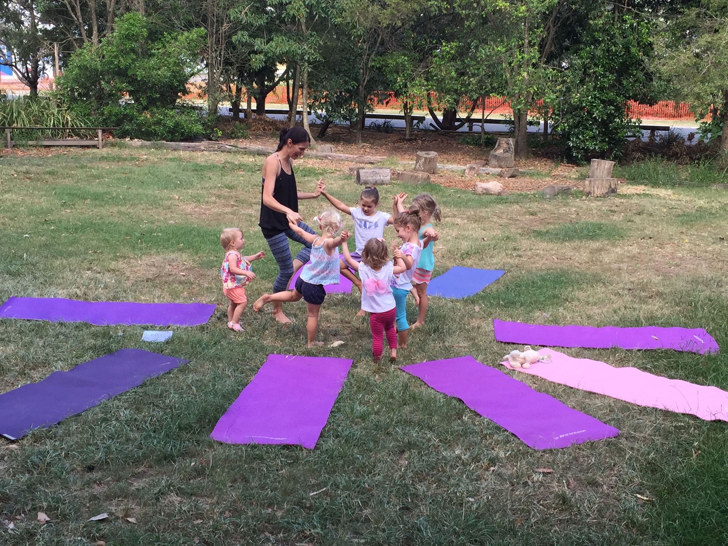 More successful group tree pose!