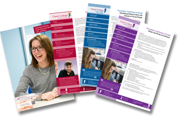 University course inserts. Client: Oasis College of Higher Education