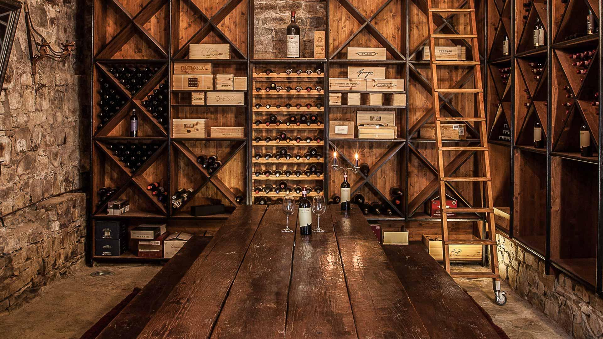 The villa's cellar.