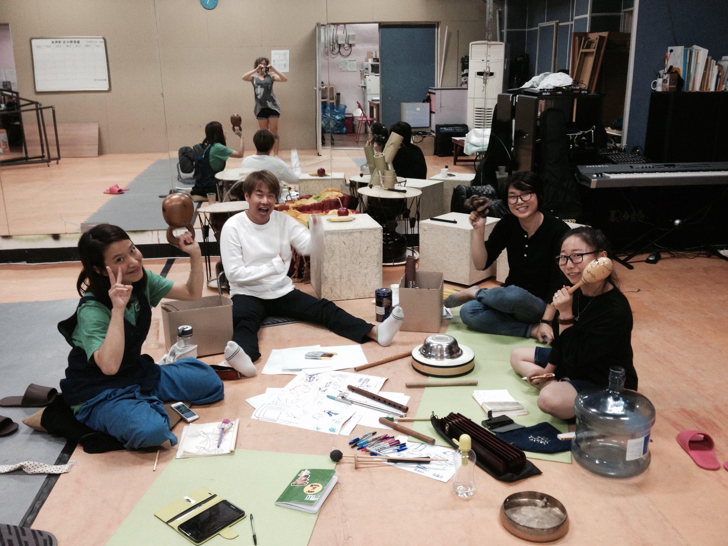 Soundscape exploration! (Left to Right Bora, Jongim, Kyunghwa, Haeweon)