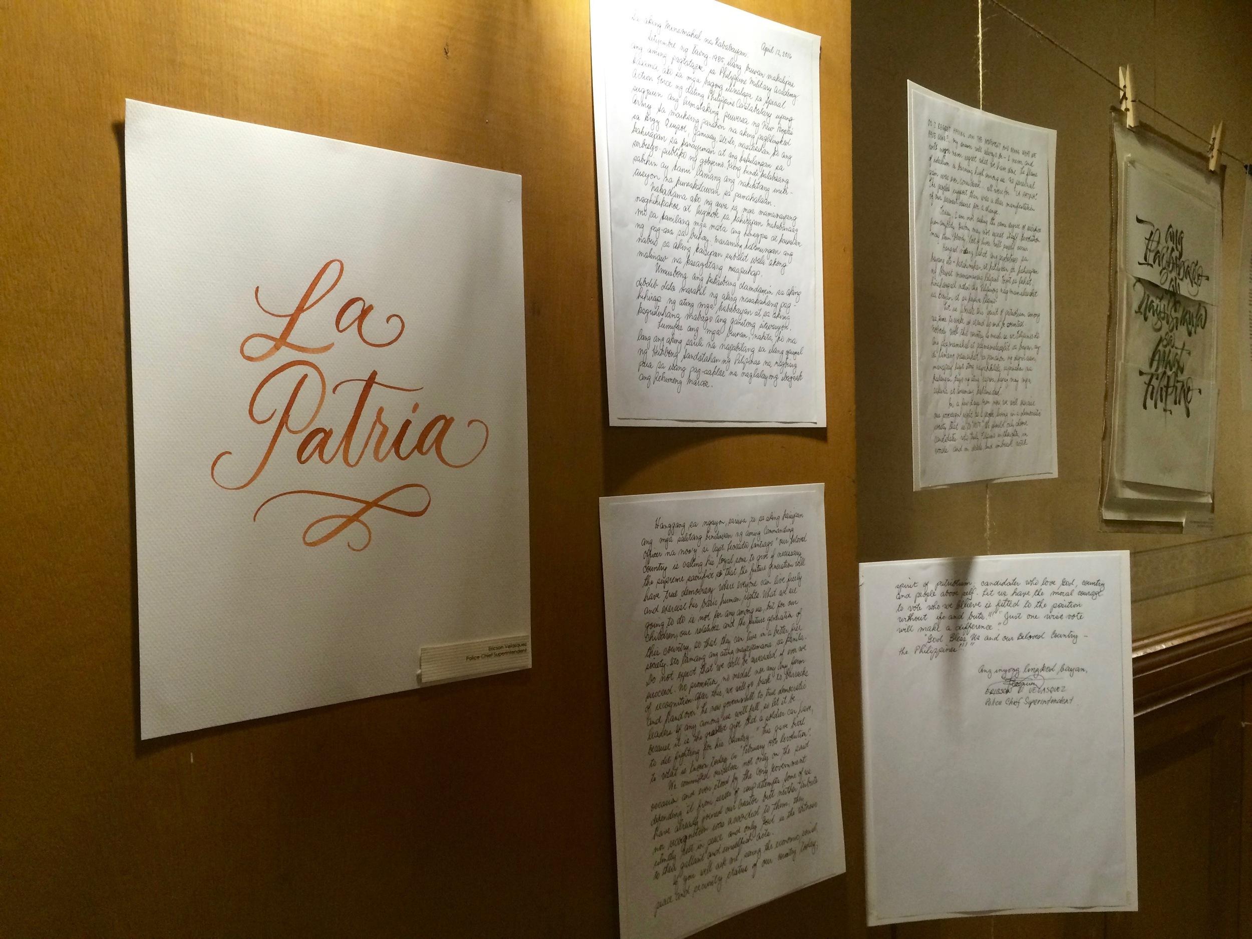La Patria - Letter by Chief Police Superintendent Velasquez
