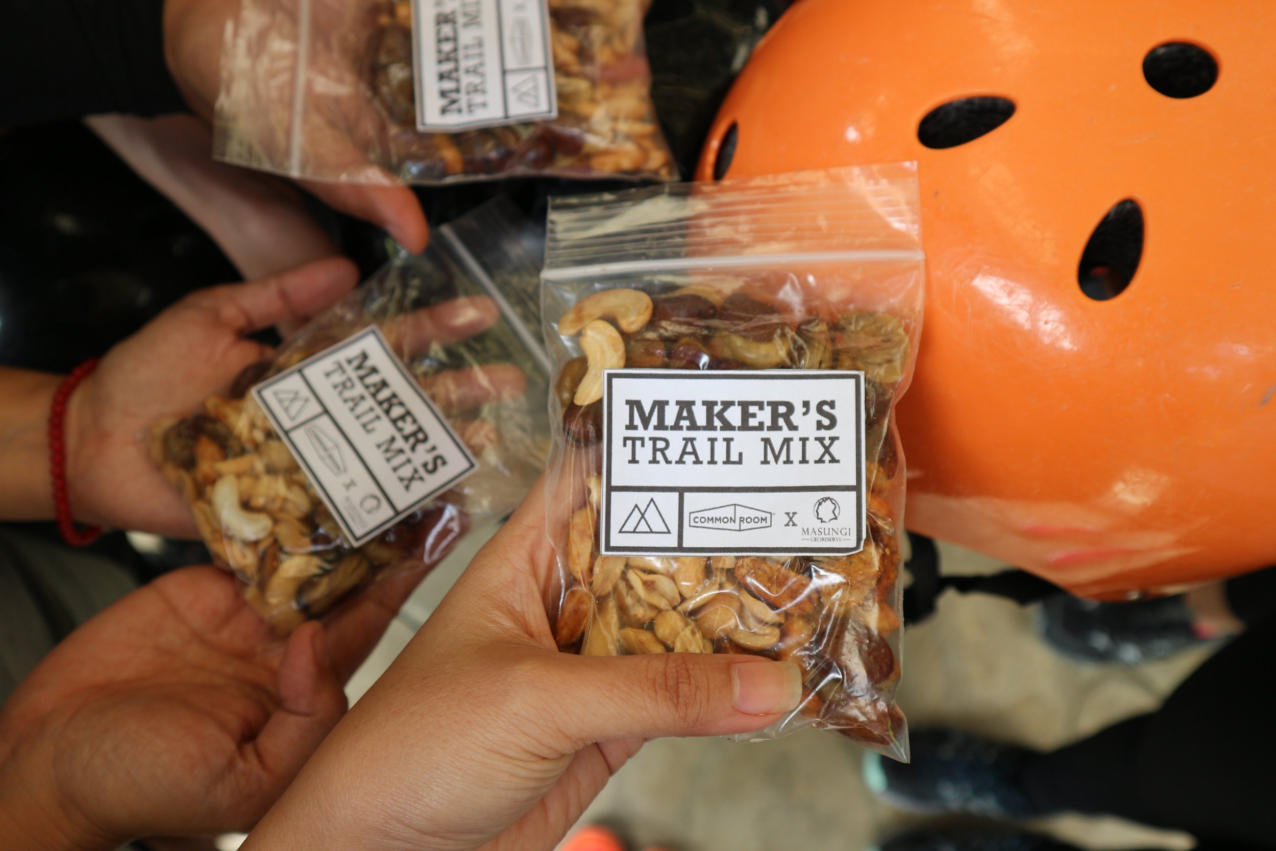 Maker's Trail Mix made by Marvz of  Habil Crafts  just for this trip!