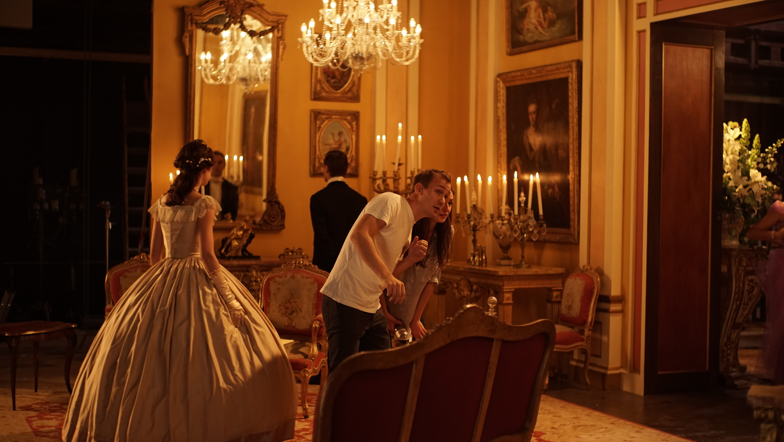 On the set of the Farley commercial with DOP Sverre Sordal, 2014