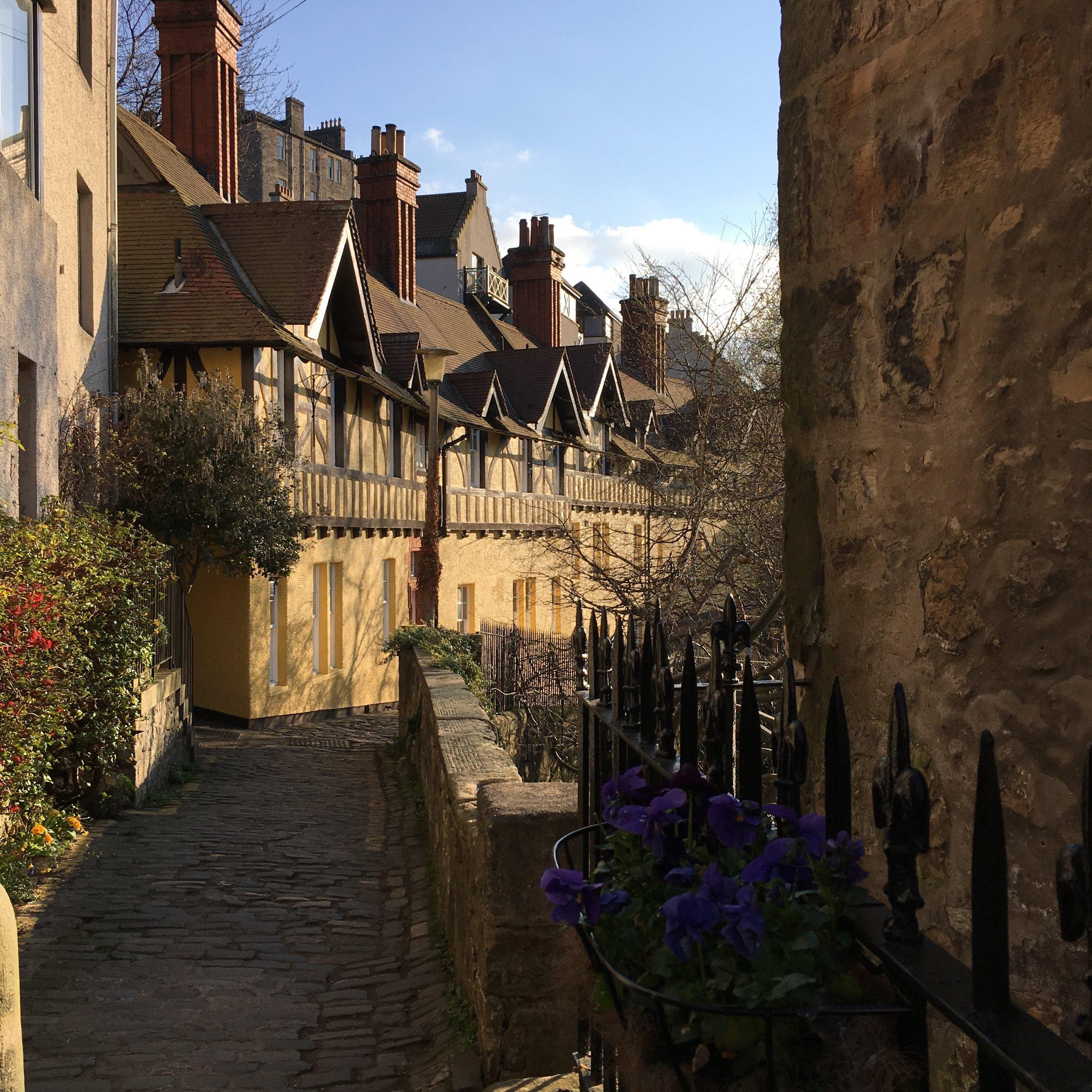 Dean Village Edinburgh in sunshine