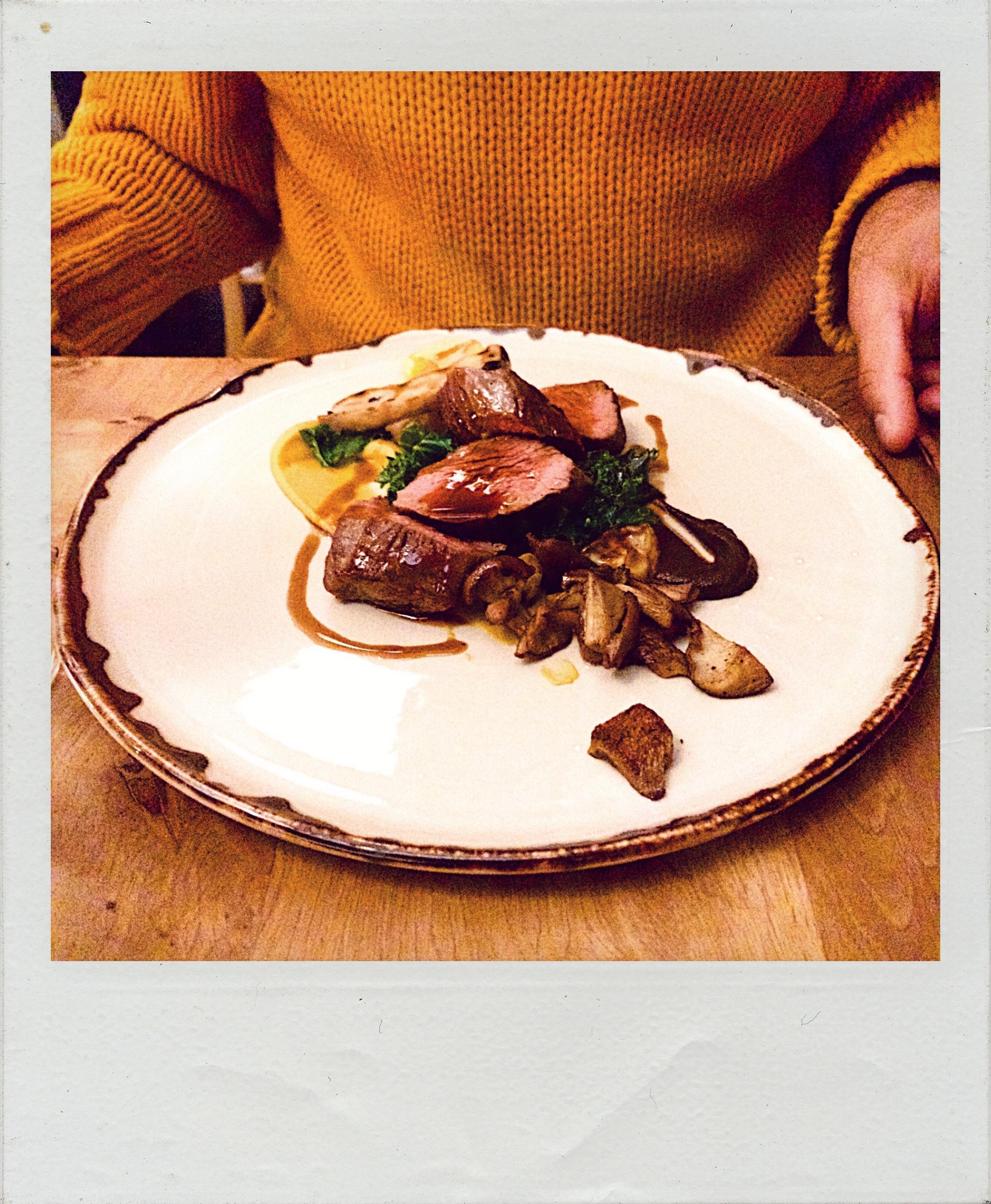 Lovage Restaurant Edinburgh, rump steak with oyster