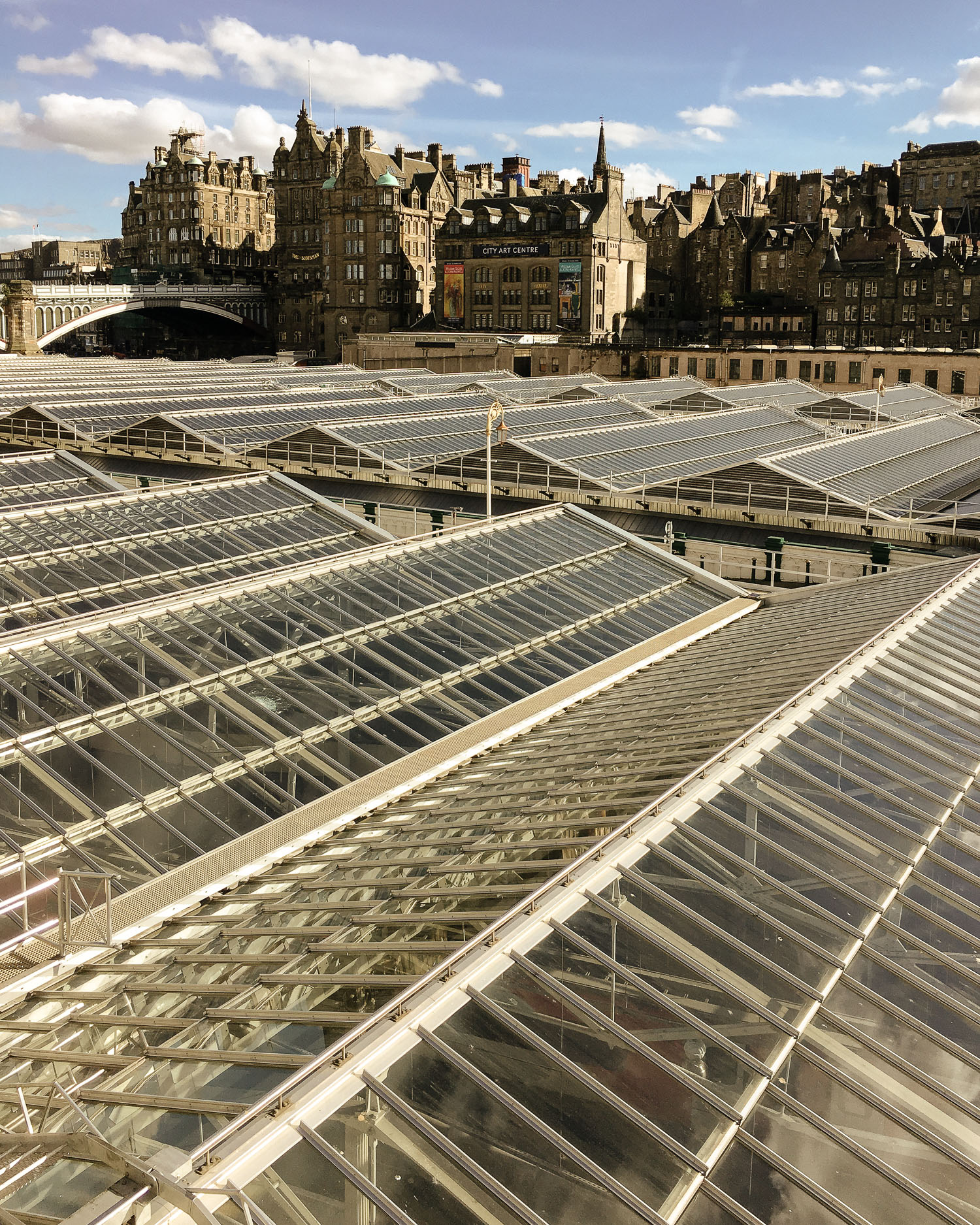 Edinburgh skyline across the rooftops