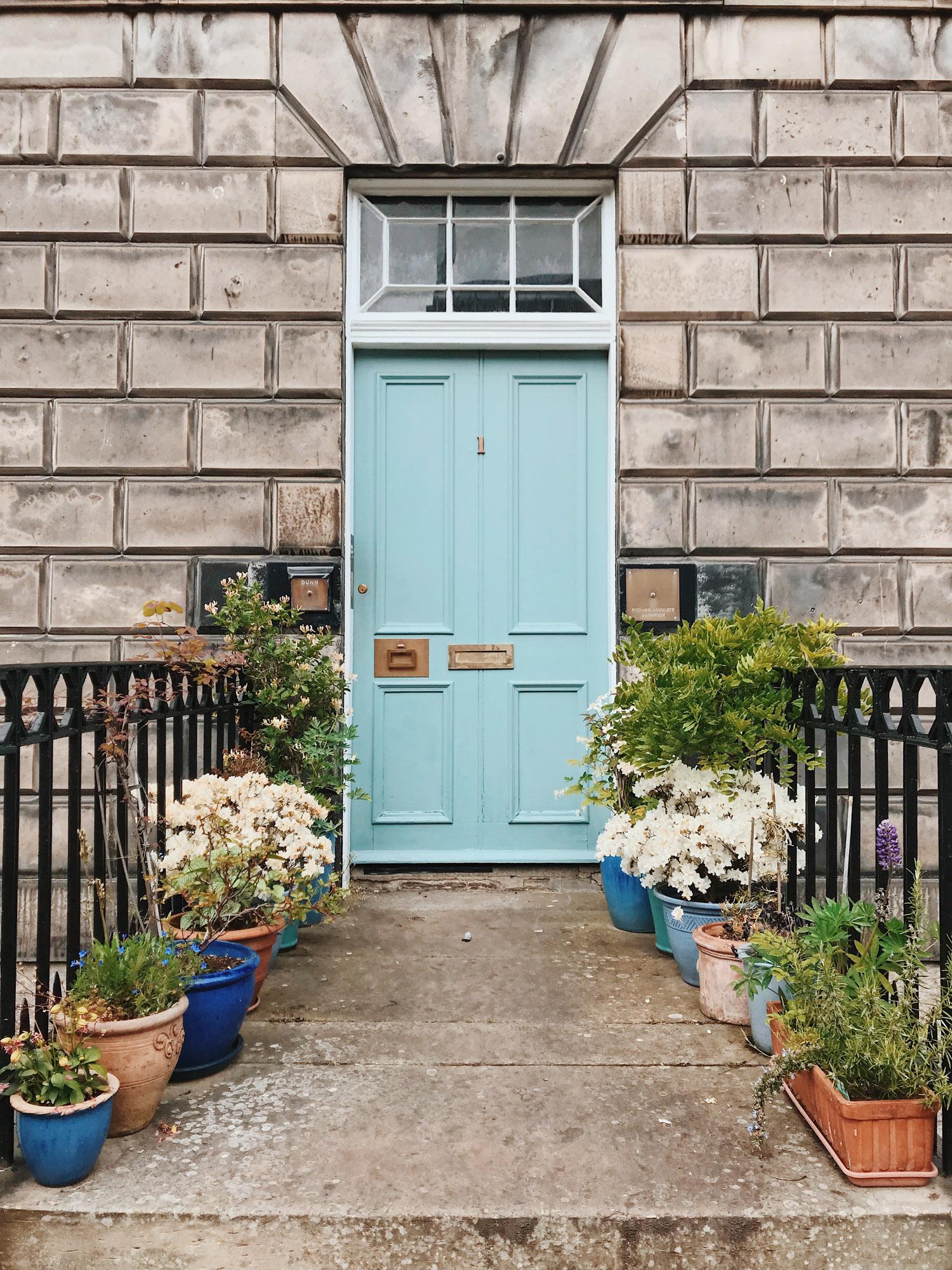 Colourful doors in Stockbridge