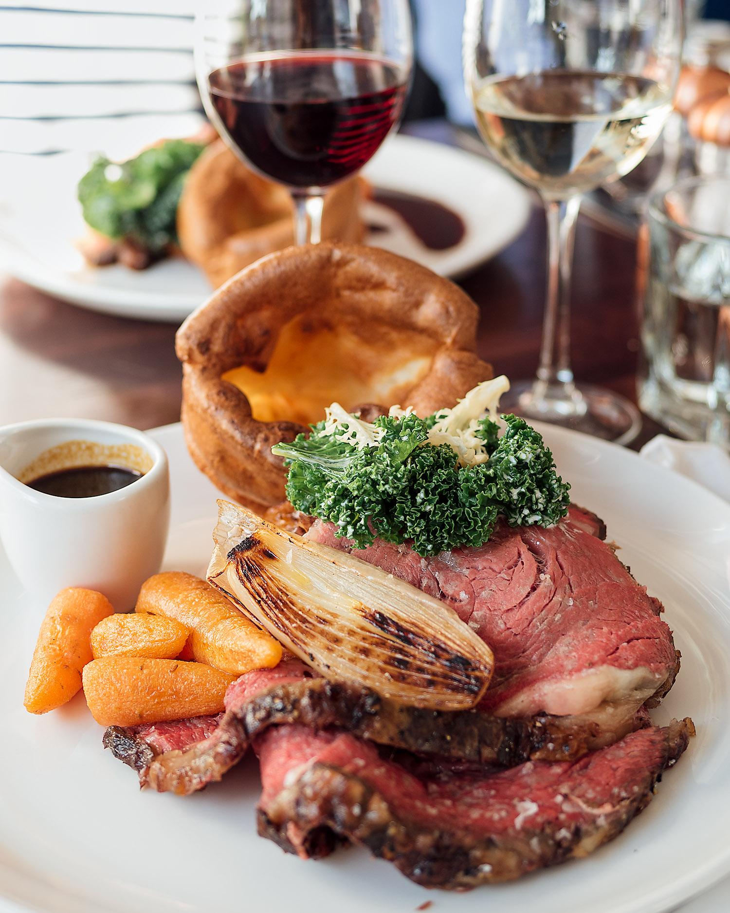 The main event, Sunday roast beef at Orto restaurant, Edinburgh