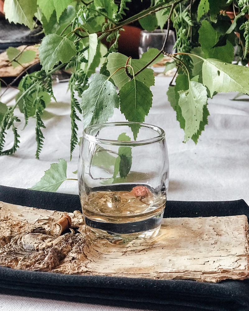 Cherrry blossom syrup classic Laddie with Aelder Elixir shrub