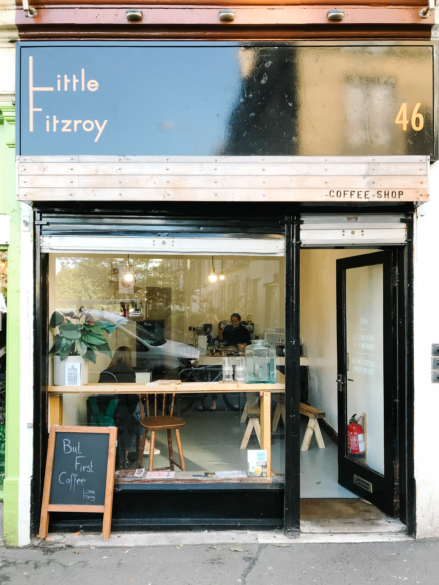 Little Fitzroy coffee shop Edinburgh