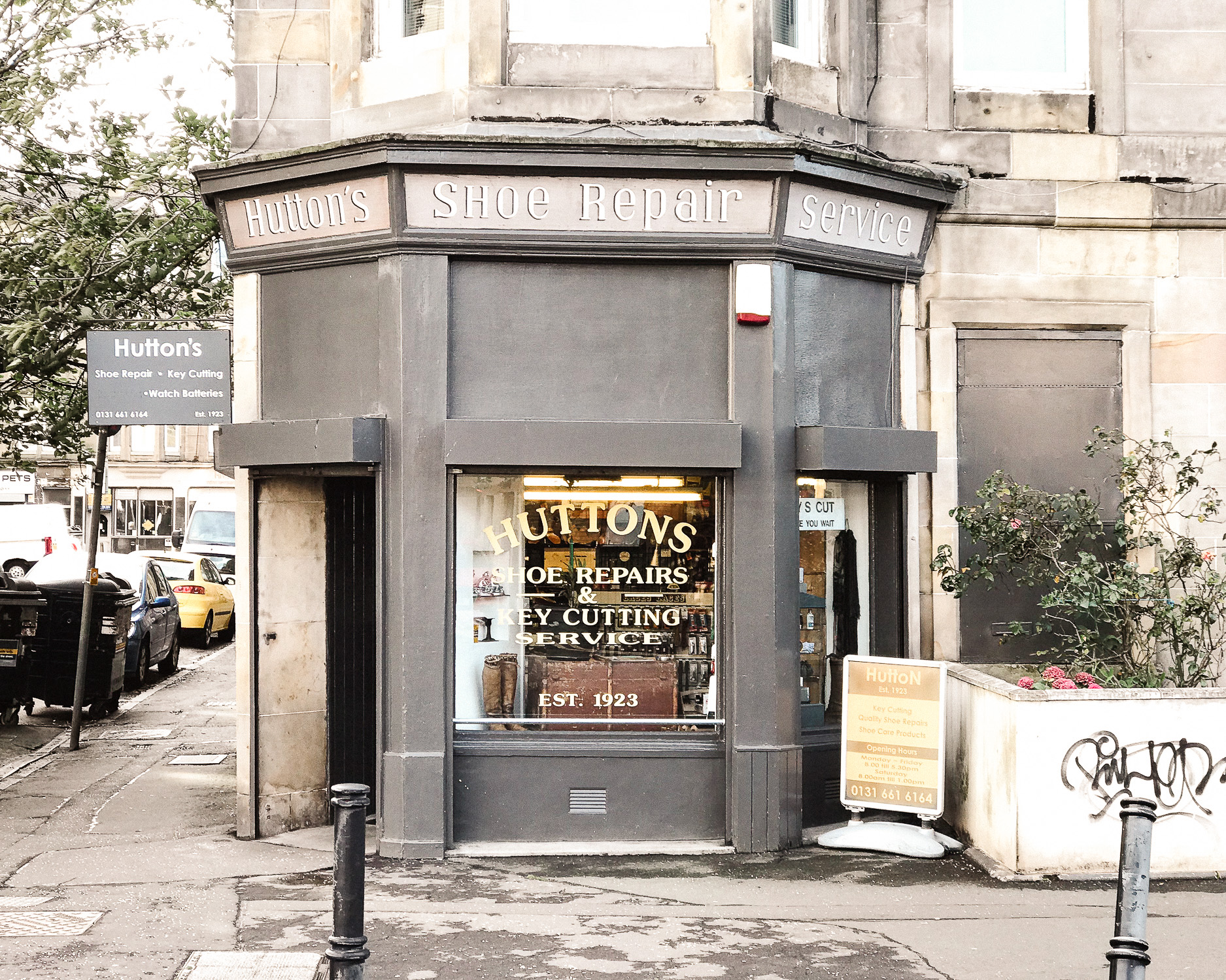 Huttons Shoe repair and locksmith, Easter Road Edinburgh