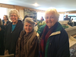Carol Sepe, Gail Bunovsky & Alyce Block in The Hickories farm store.