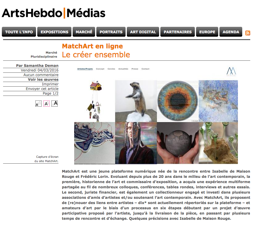 artshebdomedias.com