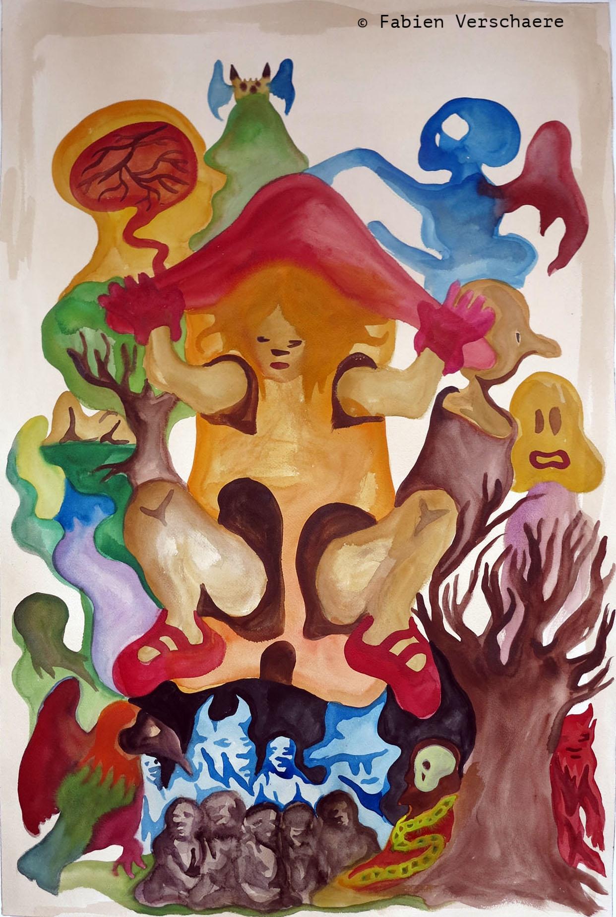 2669- Alice and Death - Aquarelle et brou de noix sur papier - 2013 - 101,6 x 65,6 cm.jpg