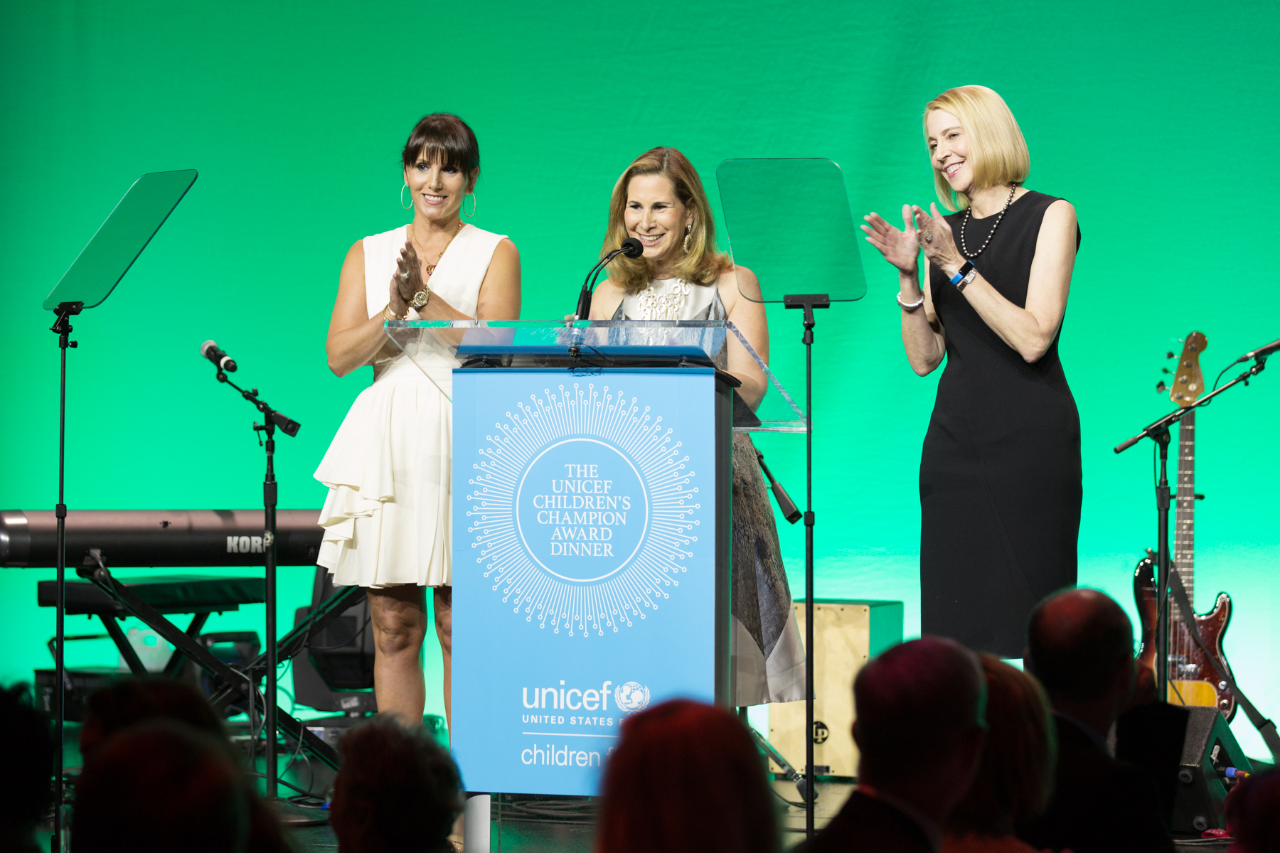 2016 UNICEF Children's Champion Award Dinner Chairs Tiffany Ortiz, Patty Ribakoff and Susan Littlefield.  ©Michael Blanchard Photography