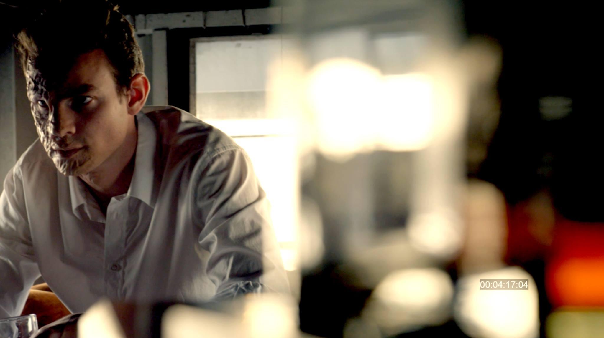 Luke Cook as Oliver Sten ruminating in Intricate Vengeance