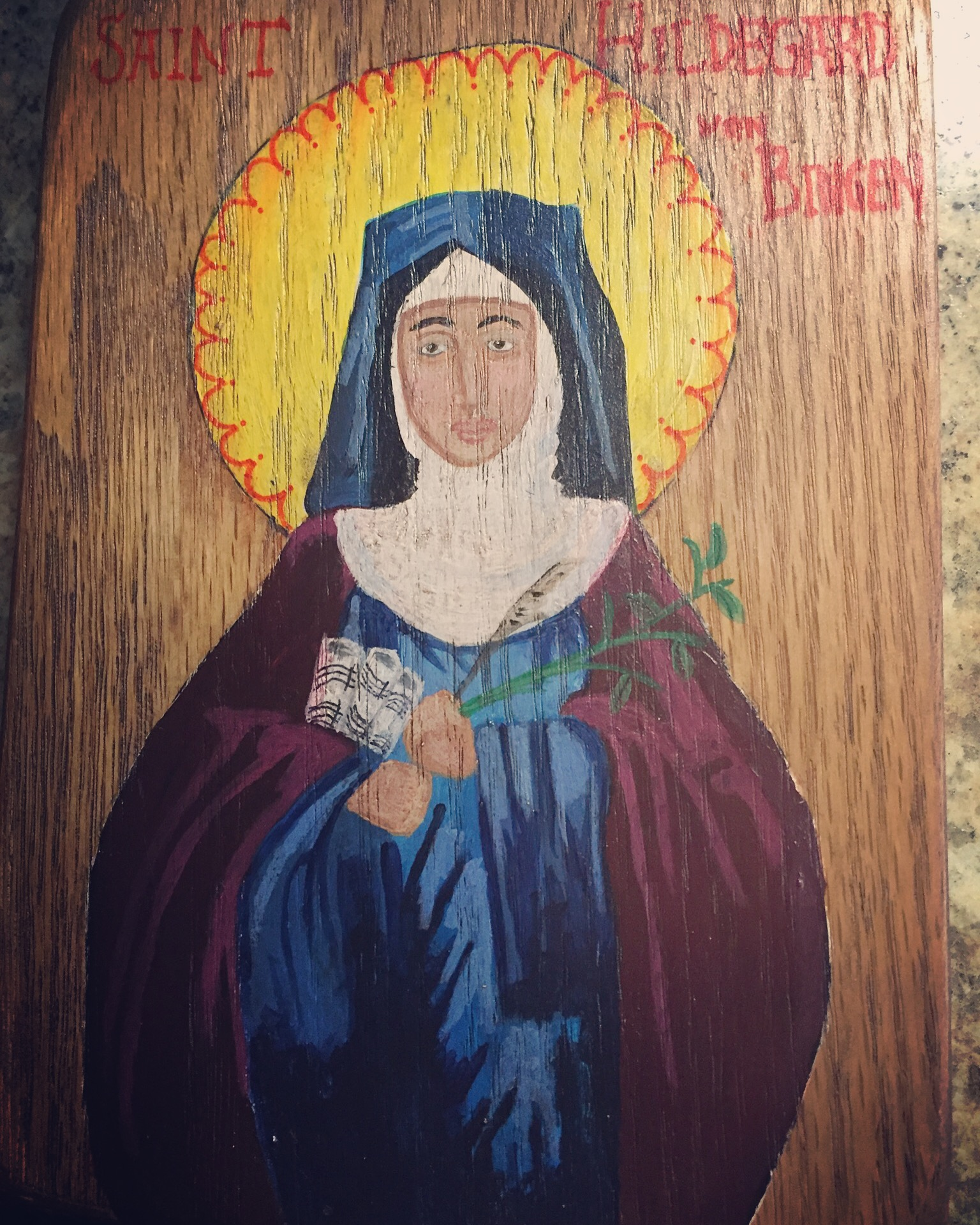 Painting of Hildegard von Bingen by Matt Adams*