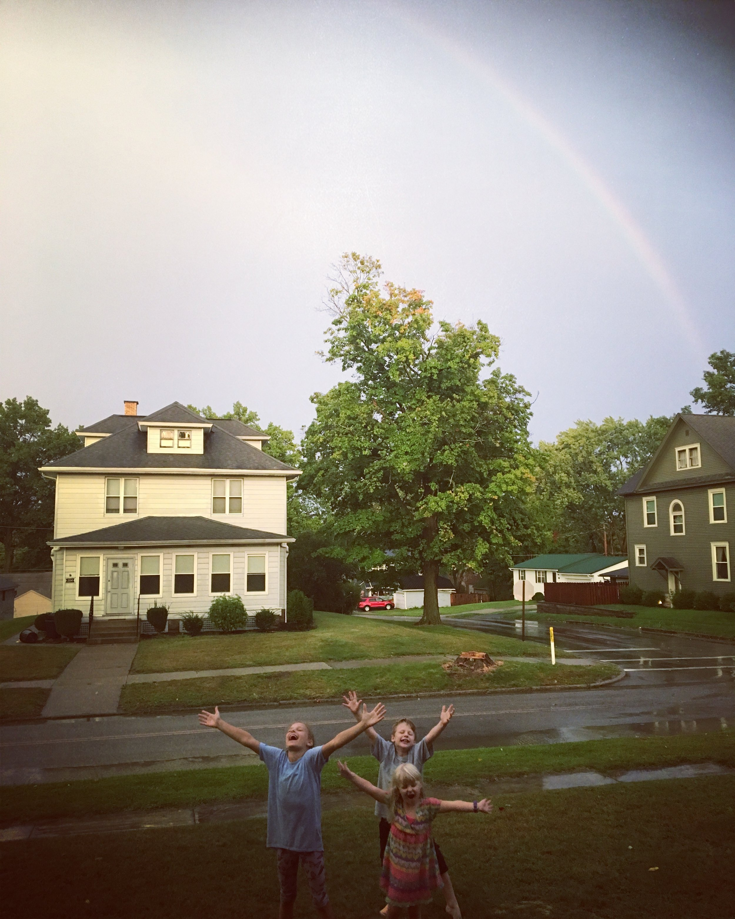 Finding joy in a not-so-mundane rainbow