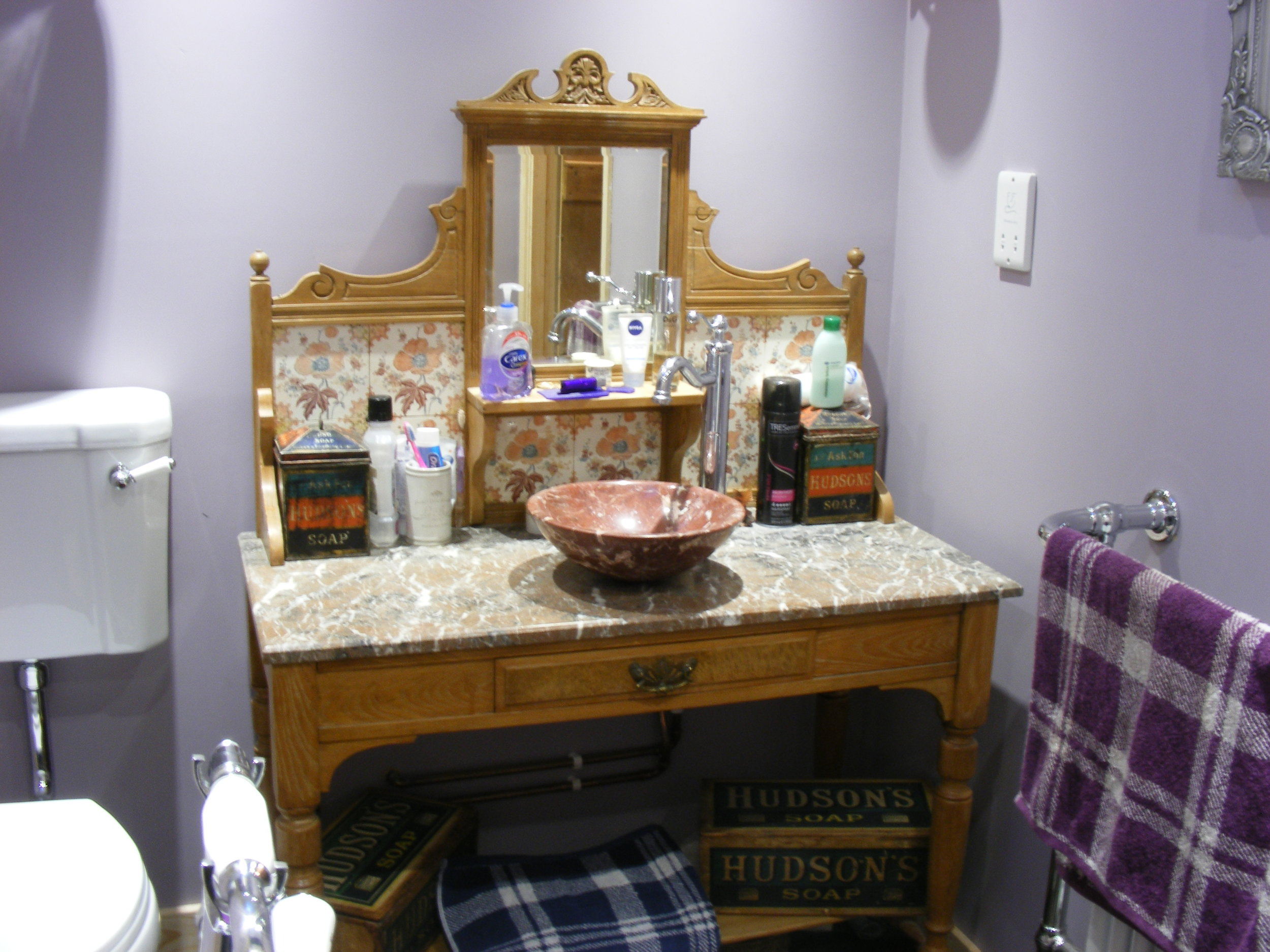 - As promised, a couple of photos of the washstand in our bathroom. Love it.  Lesley, North Wales