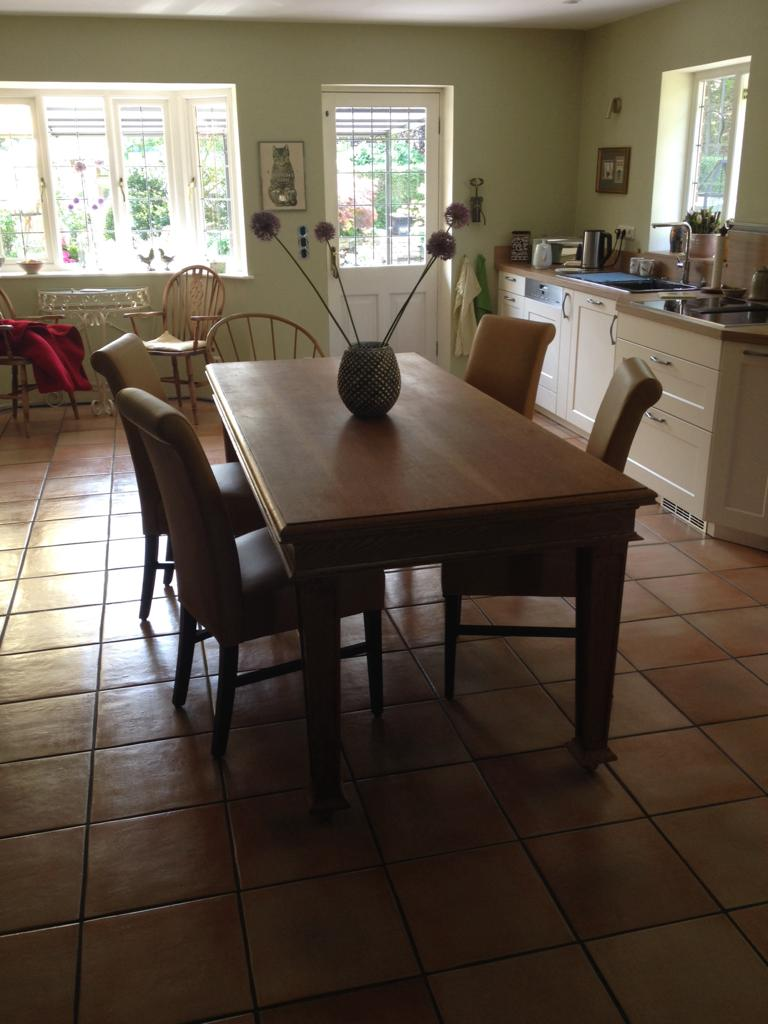 - The table works really well with our chairs in the new kitchen extension. Many thanks.Tim, Germany