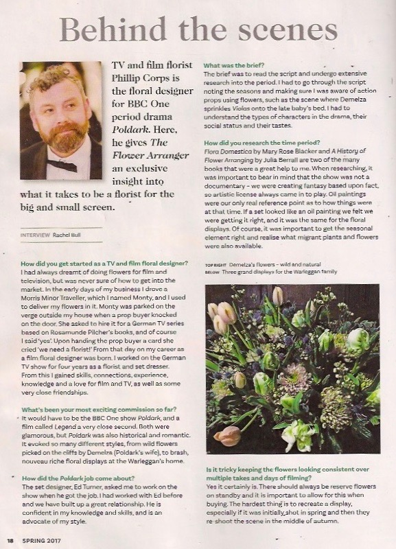 Article in The Flower Arranger Magazine
