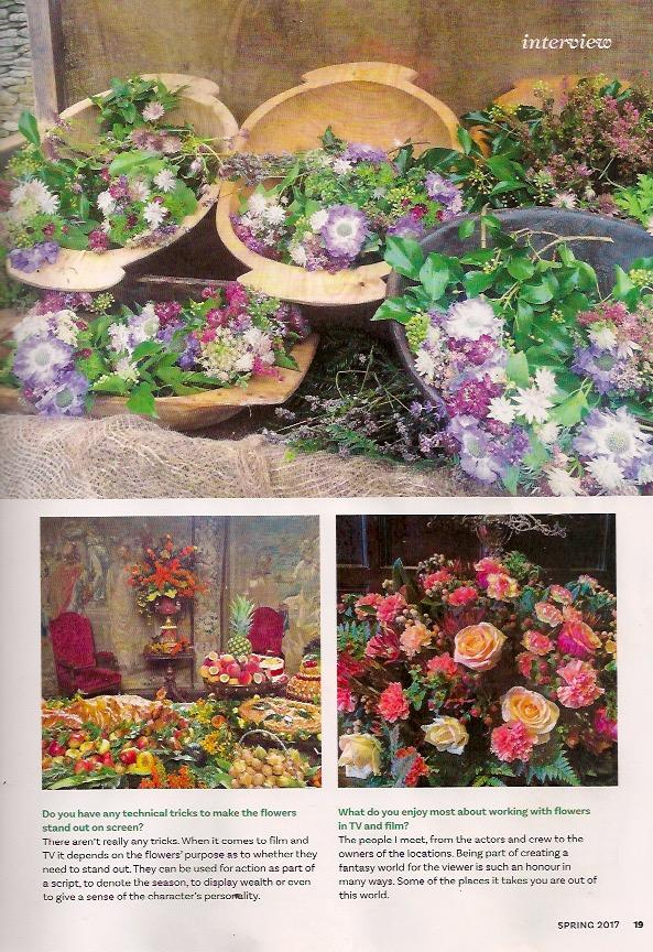 Article in The Flower Arranger Magazine