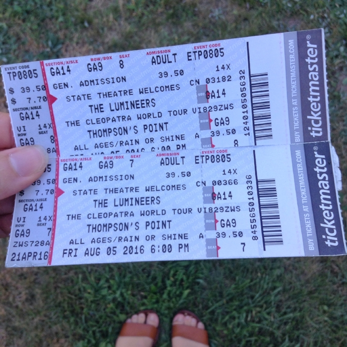 Getting my hands on a pair of tickets to see  The Lumineers  at  Thompson's Point ! It was such a beautiful night, filled with fun, laughter, delicious food, and great music.
