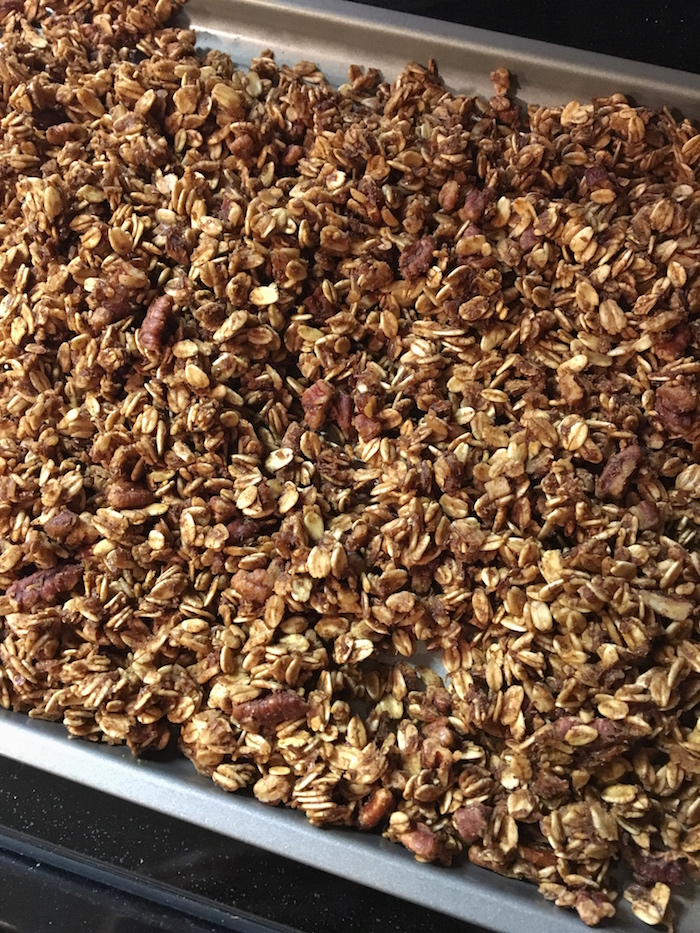 The delightful smell of homemade granola