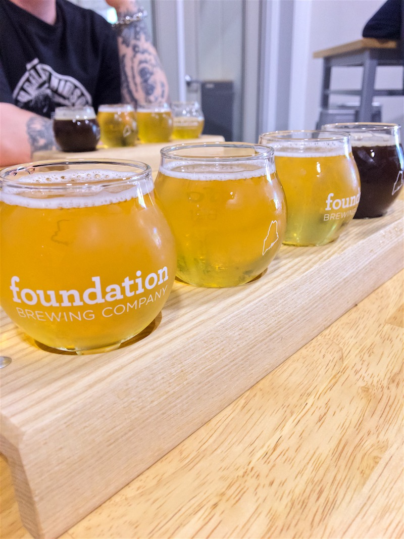 Making a visit to one of our favorite local breweries,  Foundation Brewing Company