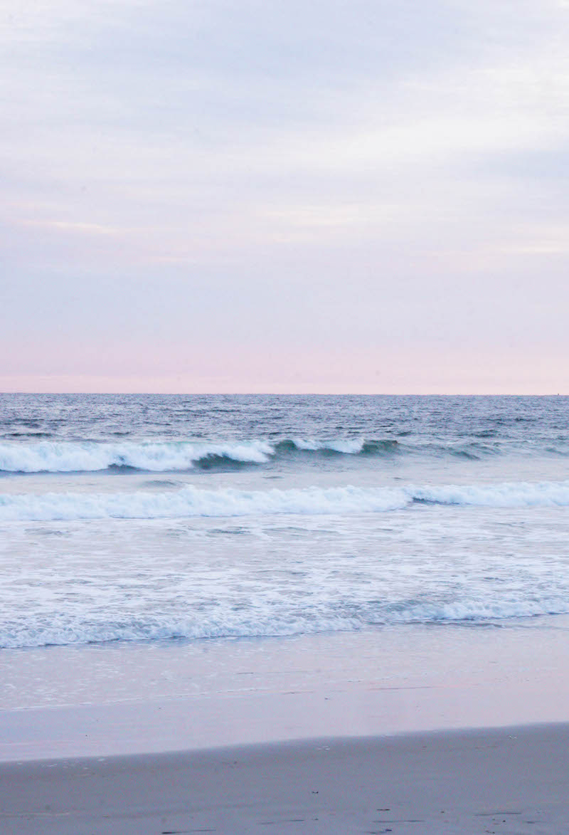 The soothing sounds and colors of the ocean