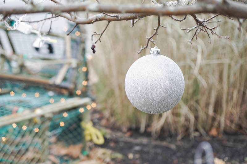 Christmas lights, lobster traps, and sparkly ornaments