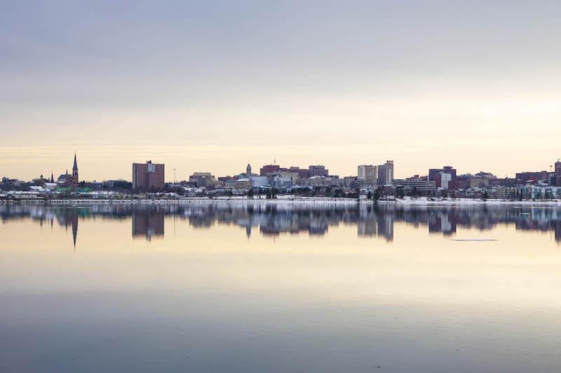 Moody city skylines