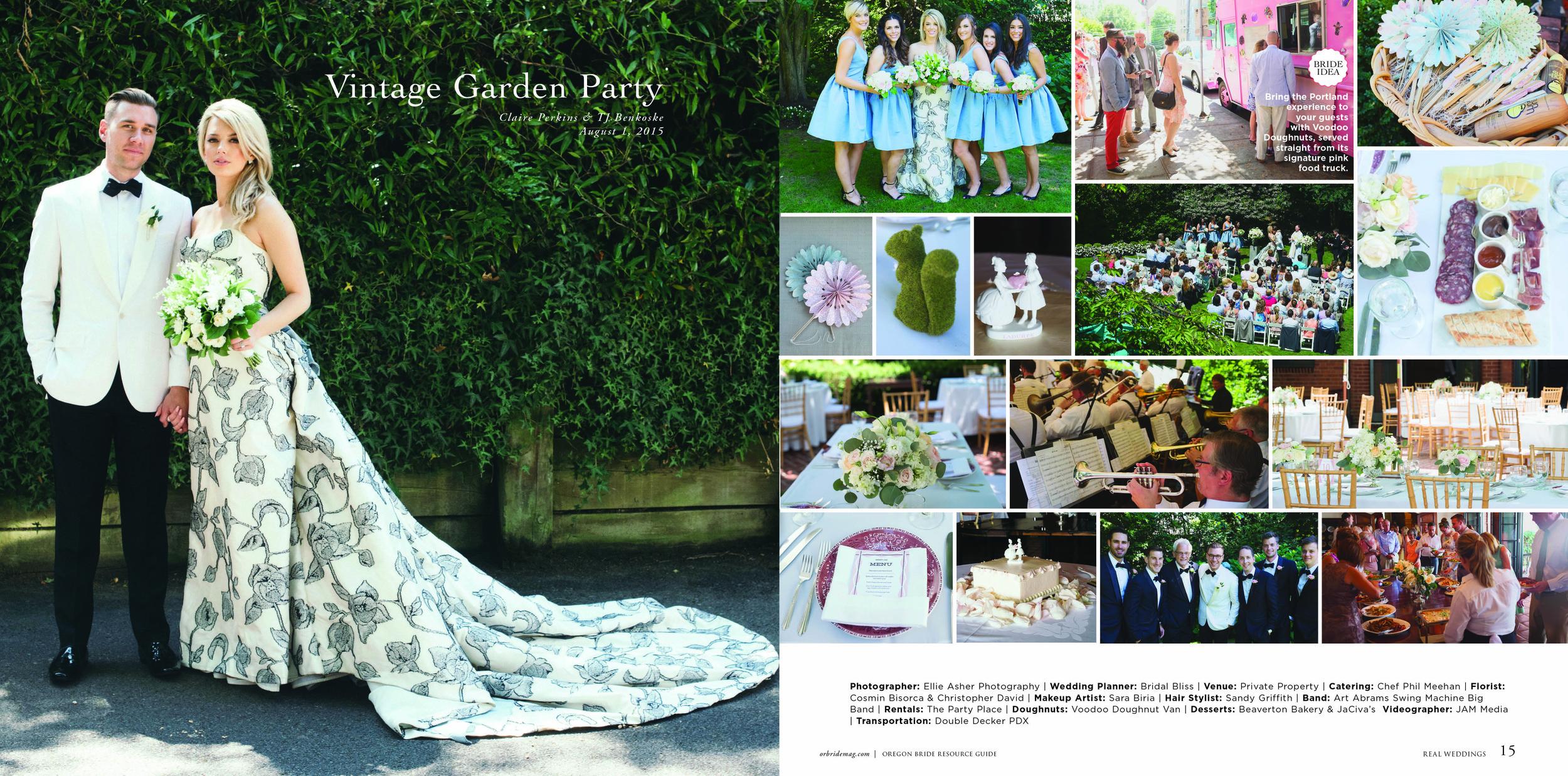 Bridalbliss.com | Portland Wedding | Oregon Event Planning and Design | Ellie Asher Photography | Christopher David Floral
