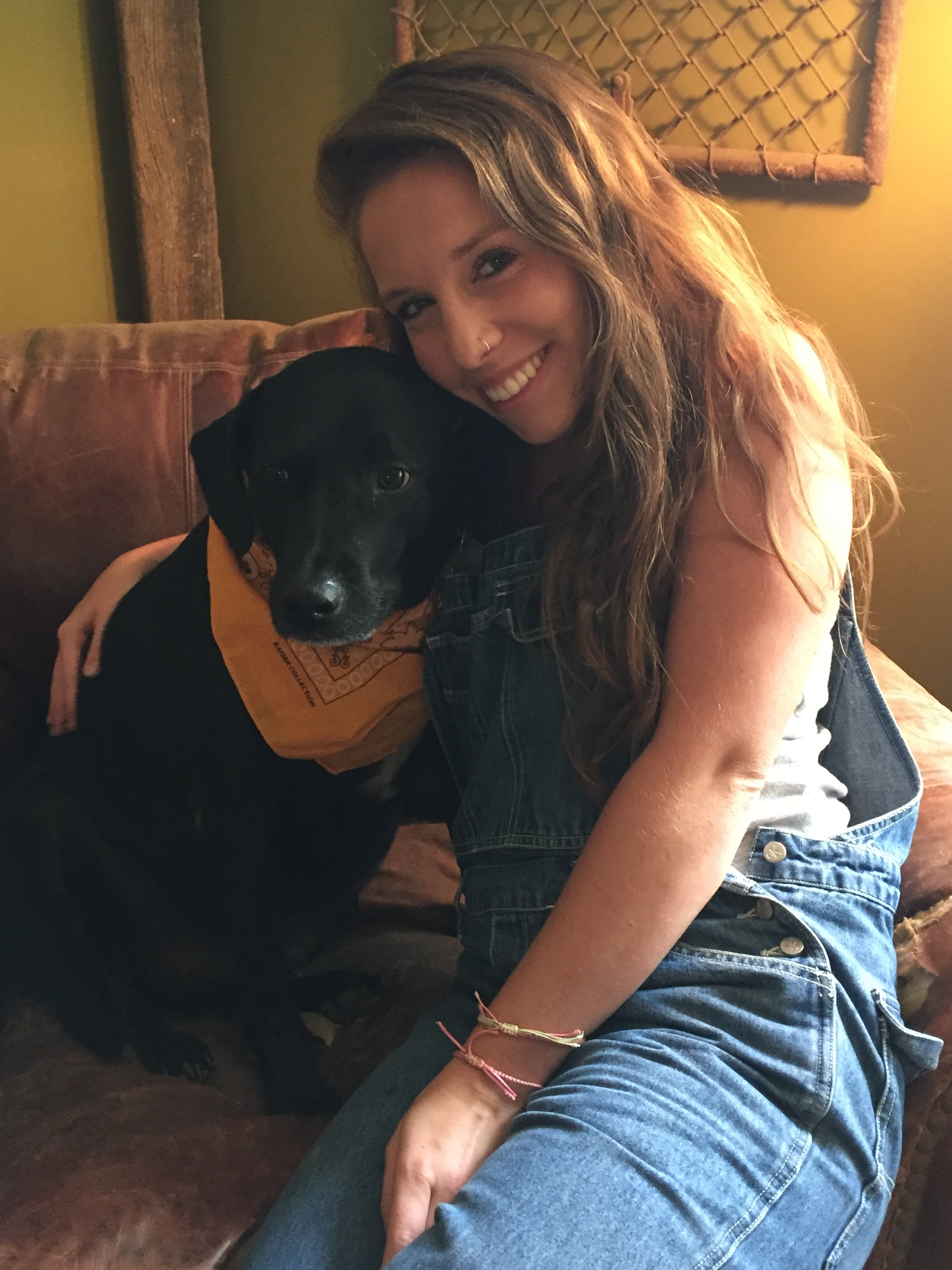 hannah vining - A graduate of Martin Methodist University, Hannah is our CSA Coordinator, Flat Bread Maker Extraordinaire, Dog Sitter, CSA Delivery Person and Mother to Poppy, the little pup in the picture.
