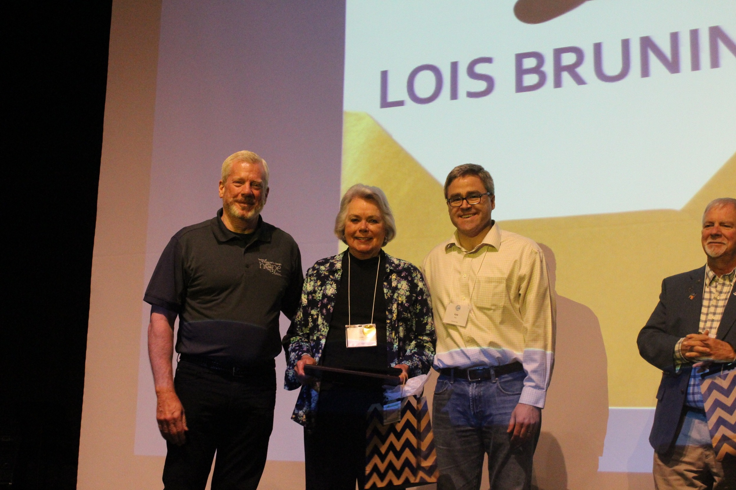 The 2016 Top Hat Award Winner is Lois Bruning, St. Mary Magdalene