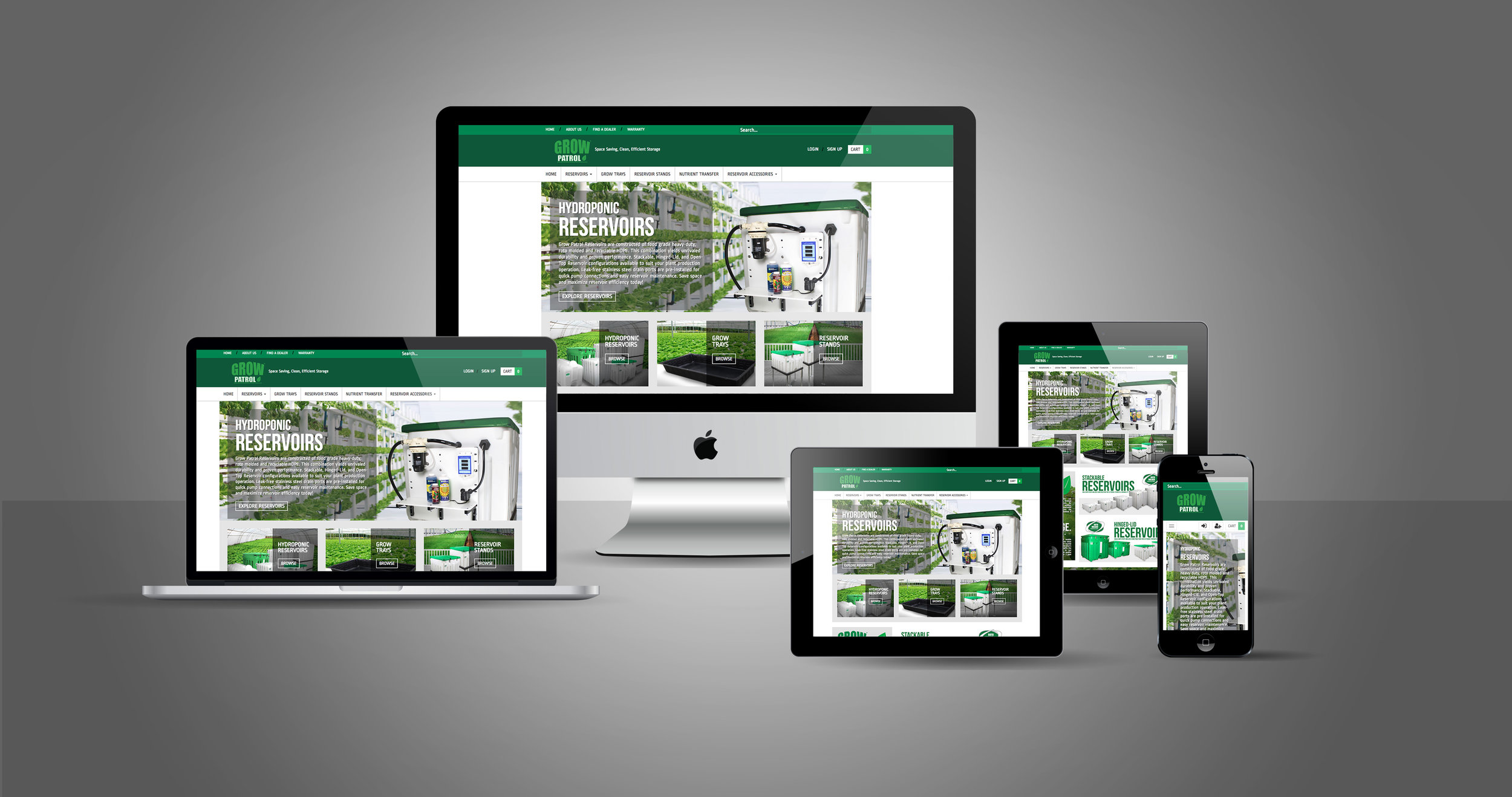 One of seven websites developed for the different brands of Innovative Outdoor Solutions.
