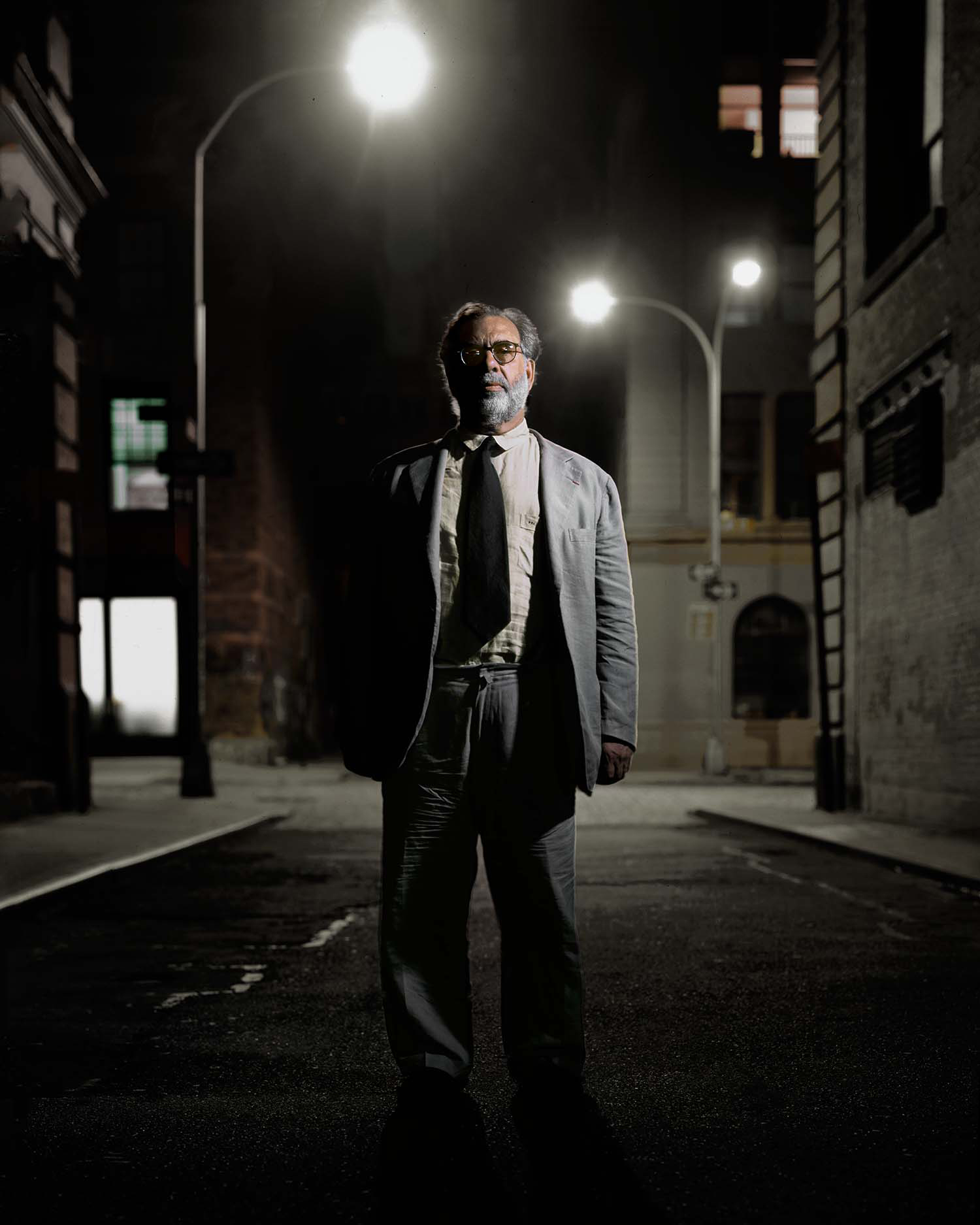 Francis Coppola, alley, Tribeca, New York