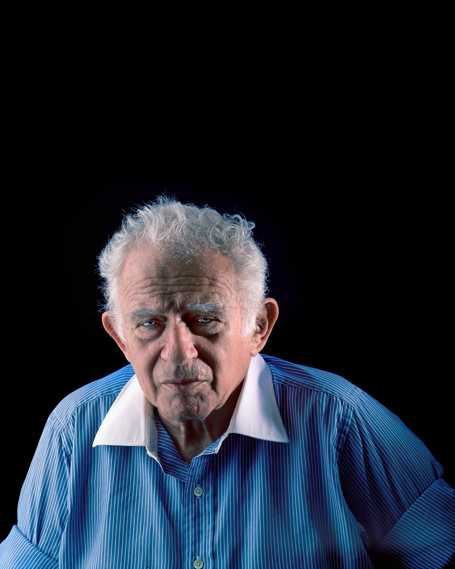 Norman Mailer, photo studio, New York City.