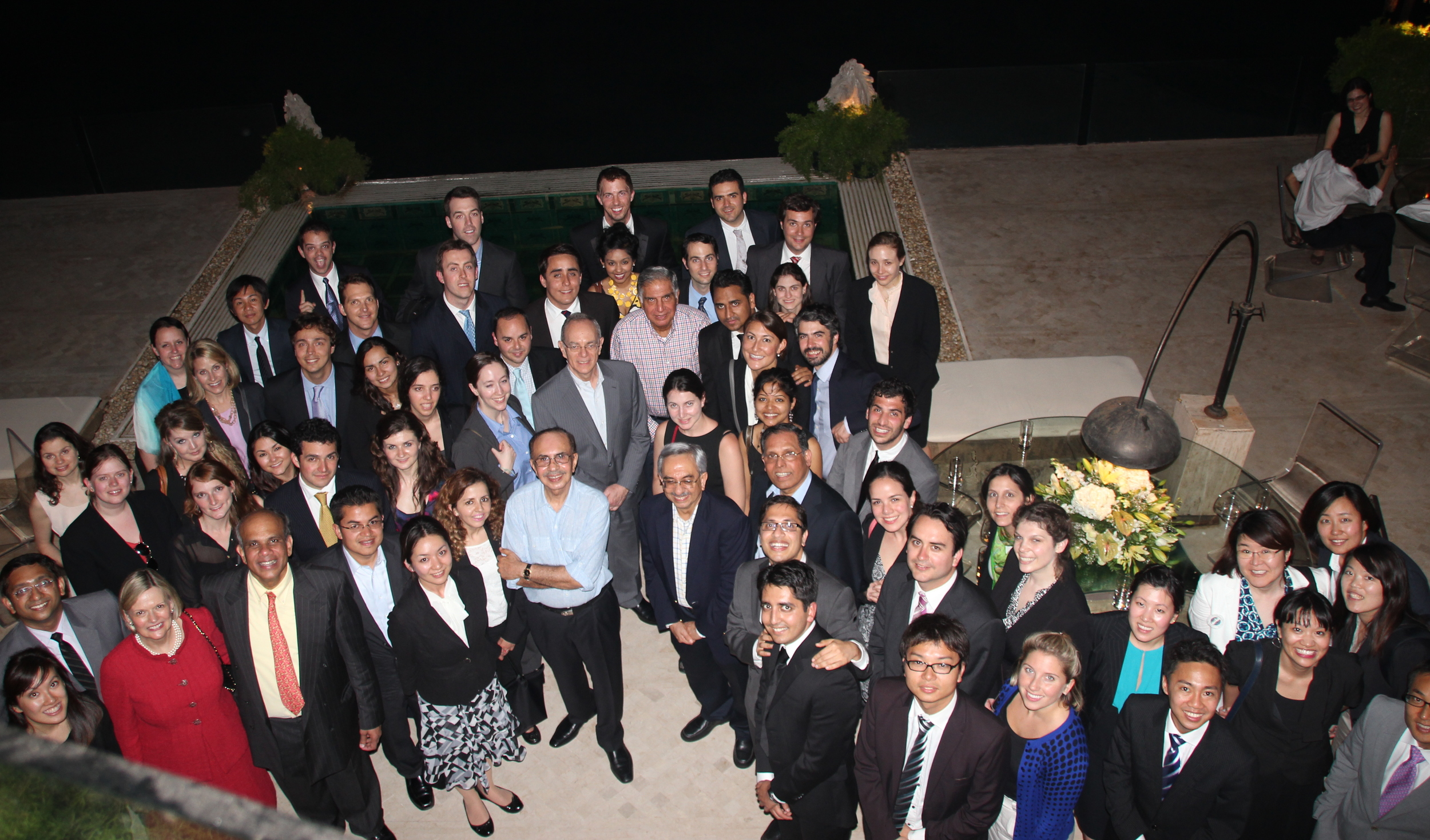 Dr. Gurumurthy Kalyanaram with MIT Students and Ratan Tata and Adi Godrej.JPG
