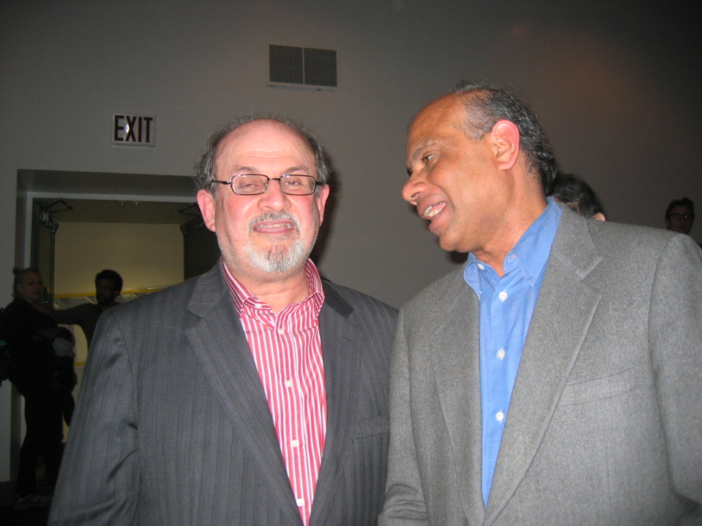 Dr. Gurumurthy Kalyanaram with Salman Rushdie.JPG